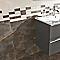 Mosaïque mur chrome 20 x 50 cm Metalica (vendue au carton)