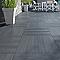 Carrelage terrasse gris anthracite 50 x 50 cm Caillebotis (vendu au carton)