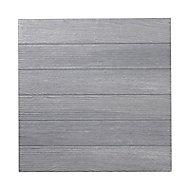 Carrelage sol extérieur gris anthracite 50 x 50 cm Caillebotis