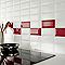Carrelage mur rouge 7,5 x 15 cm Metro (vendu au carton)