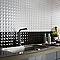Carrelage mur blanc 25 x 40 cm Step (vendu au carton)