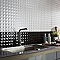 Carrelage mur noir 25 x 40 cm Step (vendu au carton)