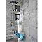 Mosaïque mur et sol blanc effet béton 30 x 30 cm Lappato