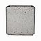 Carré potager béton gris 38 x 38 x h.38 cm