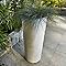 Pot rond ciment gris Ø29 x h.60 cm
