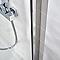 Paroi de douche fixe COOKE & LEWIS Pure transparente 120 cm
