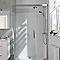 Porte de douche coulissante Cooke & Lewis Pure chromée 140 cm