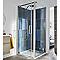 Paroi de douche latérale COOKE & LEWIS Pure transparente 80 cm