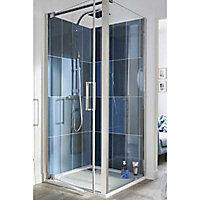 Paroi de douche latérale COOKE & LEWIS Pure transparente 90 cm