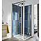 Porte de douche pivotante COOKE & LEWIS Pure chromée 80 cm