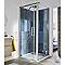 Porte de douche pivotante COOKE & LEWIS Pure chromée 90 cm