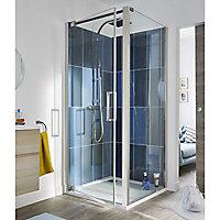 Porte de douche pivotante Cooke & Lewis Pure transparent 90 cm