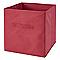 Boîte de rangement carrée en textile Mixxit coloris rouge