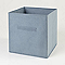 Boîte de rangement carrée en textile Mixxit coloris gris foncé