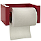 Dérouleur de papier toilette en bambou rouge Tonic