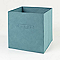 Boîte de rangement carrée en textile Mixxit coloris bleu turquoise