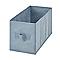 2 boîtes de rangement rectangulaires en textile Mixxit coloris gris foncé