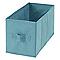 2 boîtes de rangement rectangulaires en textile Mixxit coloris bleu turquoise