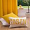 Coussin COLOURS Fili sunshine blanc et jaune 30 x 50 cm