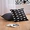 Coussin COLOURS Bart noir et blanc 45 x 45 cm