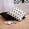 Coussin COLOURS Rogers noir et blanc 43 x 43 cm