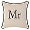 Coussin COLOURS Post mr mrs noir et blanc 45 x 45 cm