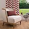 Rideau COLOURS Don rouge chevrons 140 x 240 cm