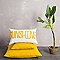 Coussin COLOURS Zen jaune 40 x 40 cm