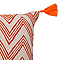 Coussin COLOURS Sori zigzag orange 30 x 50 cm