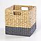 Boîte de rangement en fibre naturelle Mixxit coloris gris