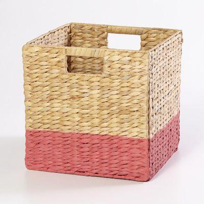 Bo te de rangement en fibre naturelle mixxit coloris rose - Castorama boite de rangement ...
