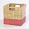 Boîte de rangement en fibre naturelle Mixxit coloris rose