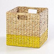 Boîte de rangement en fibre naturelle Mixxit coloris jaune