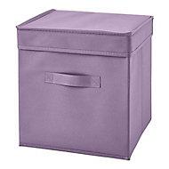 Boîte de rangement carrée en tissu Mixxit coloris mauve