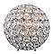 Lampe à poser Glitter métal/PVC chrome H.24 cm G9 28W