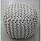Pouf carré COLOURS Alfred blanc 40 x 40 x h.40 cm