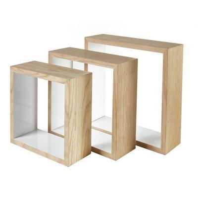 3 cubes décor chêne FORM Lima   Castorama