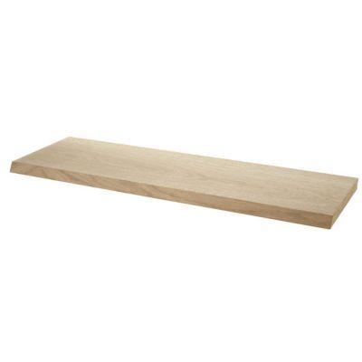 Tablette biseautée décor chêne form cleaver 60 cm