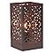 Lampe à poser Djerba métal rouille H.28cm E27 60W
