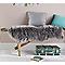 Tapis Mouton gris 110 x 140 cm