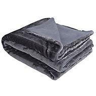 Plaid gris foncé 130 x 180 cm
