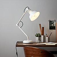 Lampe de bureau Yarra E27 IP20 blanc