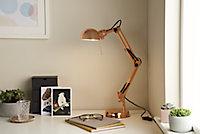 Lampe de bureau Bakossi E14 IP20 cuivre