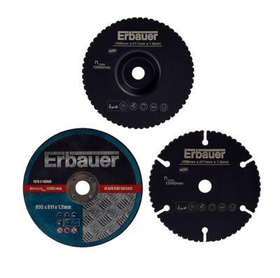 Lame de mini scie circulaire Erbauer bois métal et plastique lot de 3