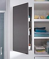 Armoire de salle de bains GoodHome Imandra gris taupé L.40 x H.90 x P.15 cm