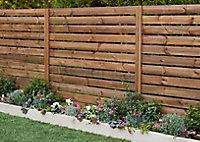 Lame de clôture Lemhi marron 180 x 12 cm