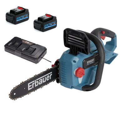 Tronçonneuse sur batterie Erbauer ECSG18-Li 18V guide 30 cm (avec 2 batteries et chargeur)