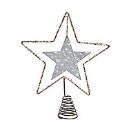 Pointe en étoile métallique