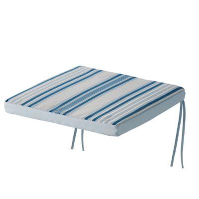 Galette de chaise GoodHome Isla à rayures bleu 40 x 40 cm