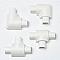 Raccords lisses blancs pour moulure demi-circulaire 16x08 mm
